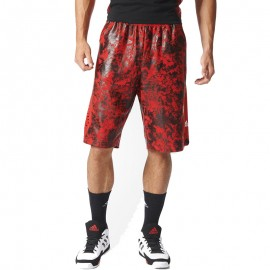 Short D. ROSE Basketball Rouge Homme Adidas