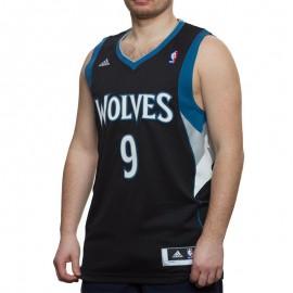Maillot Swingman R. Rubio Timberwolves Basketball Noir Homme Adidas