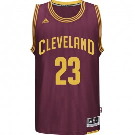Maillot Swingman L.James Cleveland Cavaliers Basketball Bordeaux Homme Adidas