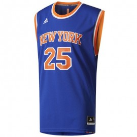 Maillot Replica D. Rose N.Y. Knicks Basketball Bleu Homme Adidas