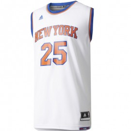 Maillot Replica D. Rose N.Y. Knicks Basketball Blanc Homme Adidas