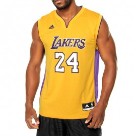 Maillot Replica K. Bryant L.A. Lakers Basketball Jaune Homme Adidas