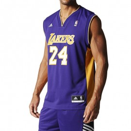 Maillot Replica K. Bryant L.A. Lakers Basketball Violet Homme Adidas