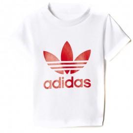 Tee-shirt Trefoil Blanc Bébé Garçon Adidas