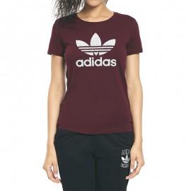Tee-shirt Trefoil Bordeaux Femme Adidas