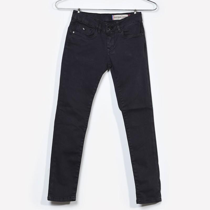 Jean Skinny Quart Noir Fille Kaporal