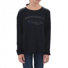 Tee-shirt Ayou Noir Fille Kaporal