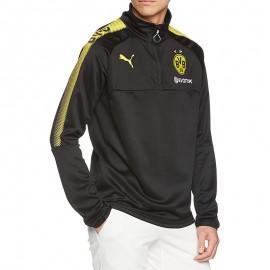 Sweat 1/4 Borussia Dortmund Football Noir Homme Puma